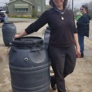 Leslie Lello At NJ Americorp Rain Barrel Workshop